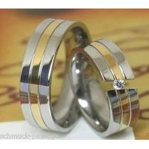 Alianzas- Bodas- Matrimonios- Acero-oro18 Kt-