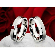 Alianzas- Bodas- Matrimonios- Acero-oro 18 Kt-