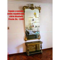 En Oferta: Espejo Y Consola Antiguos