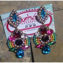 Zarcillos O Aretes Cristal Luxury Multicolor...