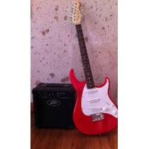 Guitarra Electrica Con Amplificador,cables Y Acessorios
