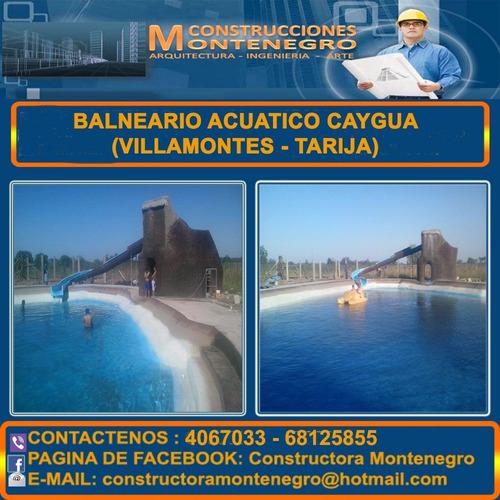 Constructora Montenegro, Trabajo Garantizado Piscina-parque